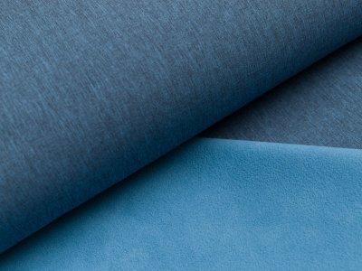 Jackenstoff Softshell uni - meliert blau