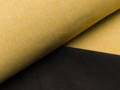 Jackenstoff Softshell uni - meliert ockergelb