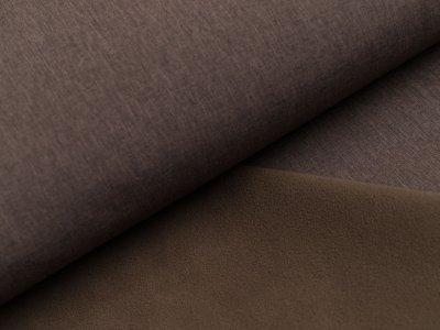 Jackenstoff Softshell uni - meliert dunkles braun