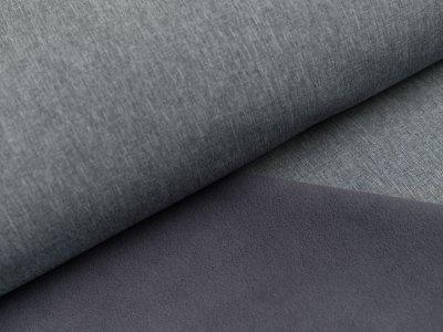 Jackenstoff Softshell uni - meliert grau