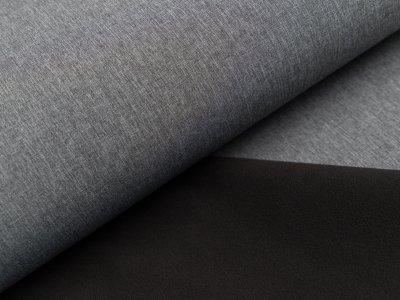 Jackenstoff Softshell uni - meliert dunkles grau