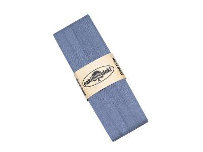 Jersey Schrägband Oaki doki gefalzt 20 mm x 3 m - grau