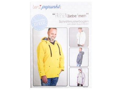 "Papier-Schnittmuster Lenipepunkt - Regenjacke ""Friesenliebe4men"" - Herren"