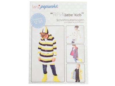 "Papier-Schnittmuster Lenipepunkt - Regenjacke ""Friesenliebe"" - Kids"