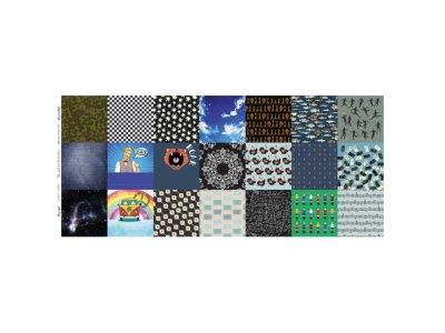 Webware Baumwolle Digitaldruck PANEL ca. 60 x 145 cm für Behelfsmasken - 21 verschiedene Motive - weiß
