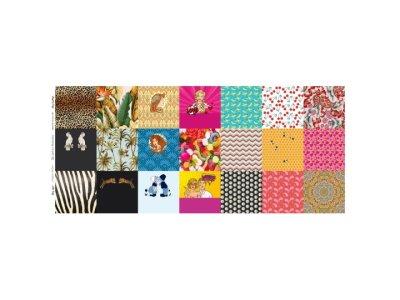 Webware Baumwolle Digitaldruck PANEL ca. 58 x 145 cm für Behelfsmasken - 21 verschiedene Motive - bunt