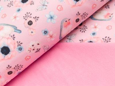 Softshell - Fräulein von Julie - Vögel und Blumen - rosa