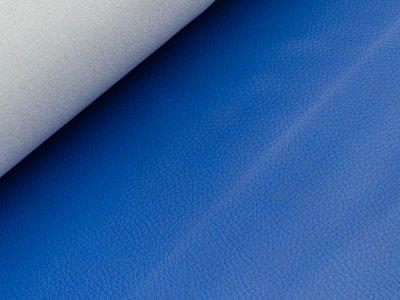 Struktur Kunstleder - blau