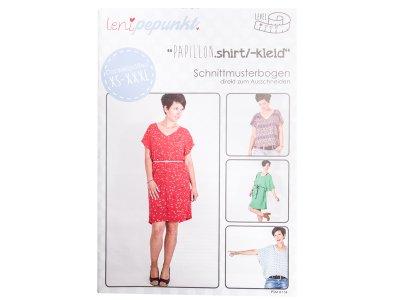 """Papier-Schnittmuster Lenipepunkt - Shirt/Kleid """"Papillonshirt"""" - Damen"""