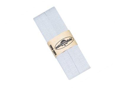 Jersey Schrägband Oaki doki gefalzt 20 mm x 3 m - helles grau