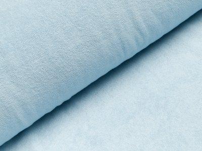 Elastischer Frottee - uni helles blau