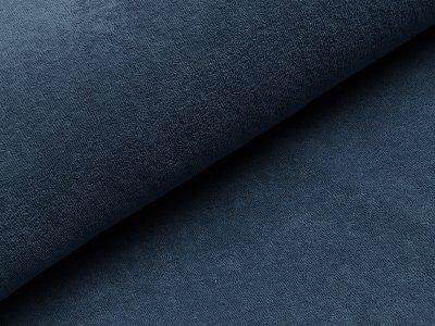 Elastischer Frottee - uni jeansblau