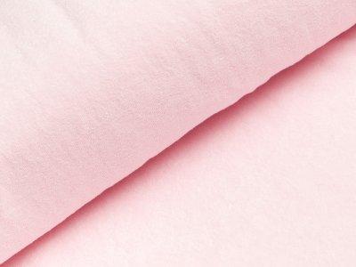 Elastischer Frottee - uni helles rosa