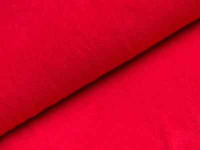 Elastischer Frottee - uni rot