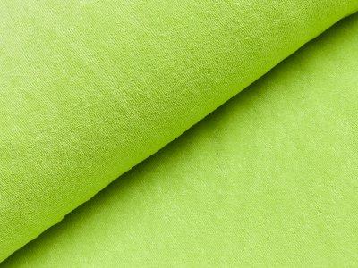 Elastischer Frottee - uni grün