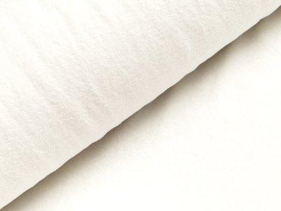 Elastischer Frottee - uni weiß