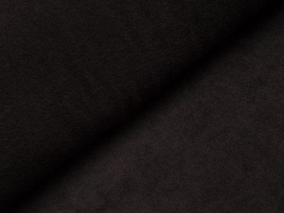 Elastischer Frottee - uni schwarz