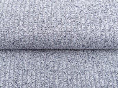 Jersey Strickstoff - Cordoptik - grau