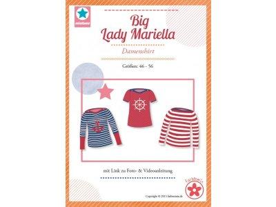 Papierschnittmuster Farbenmix  Big Lady Mariella  Plus-Size Damenshirt