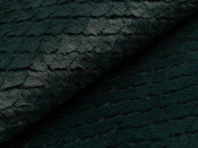 Wellnessfleece mit Prägung - Schuppen - dunkles grün