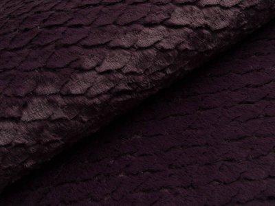 Wellnessfleece mit Prägung - Schuppen - dunkles lila