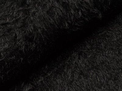 Wellnessfleece Zottel - uni schwarz