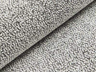 Chenille Strickstoff - Knötchen - schwarz/weiß