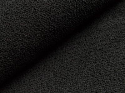 Chenille Strickstoff - Knötchen - schwarz