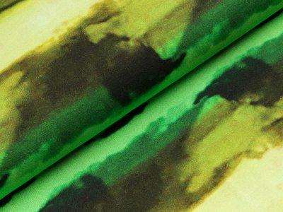 Viskose-Jersey - Streifen in Batikoptik - gelb/lime