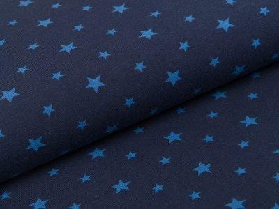 Jersey - unregelmäßige Sterne - marine