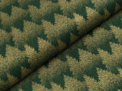 Baumwolle Popeline - Tannenbäume - tannengrün