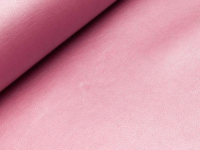Kunstleder Metallic - uni rosa