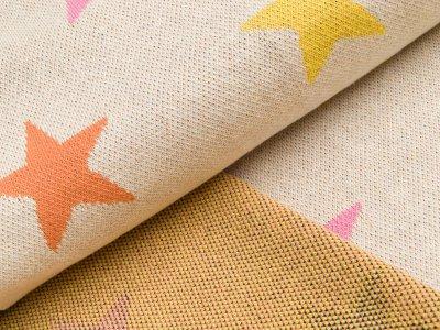 Jacquard-Jersey - Sterne - beige