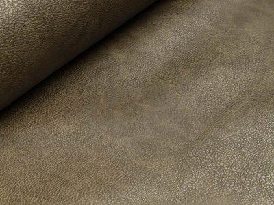 Struktur Kunstleder marmoriert - khaki