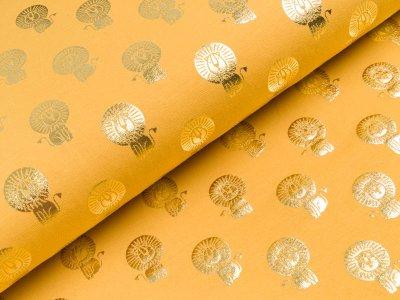 Jersey mit Foliendruck - Löwen - gelb