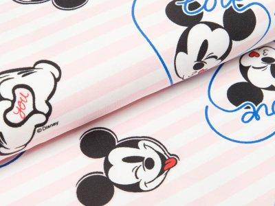 Jersey Disney Micky Mouse - Love You und Streifen - weiß