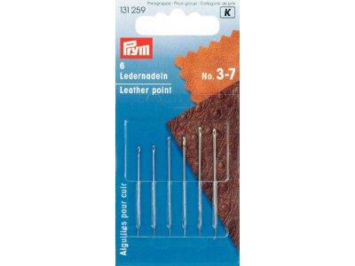 Prym 6 Ledernadeln ST 3-7 - silberfarben