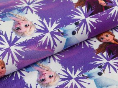 Jersey Disney-Frozen  Anna und Elsa mit Kristoff und Olaf - lila