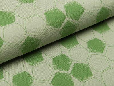 Jersey - Fünfecke - altgrün