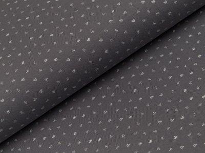 Jersey - kleine Kritzelherzen - grau