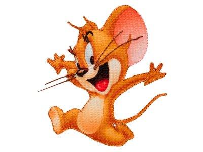 Applikation zum Aufbügeln Tom & Jerry - lustiger Jerry - braun