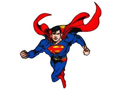 Applikation zum Aufbügeln Superman - fliegender Superman - blau
