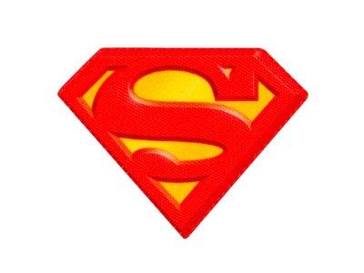Applikation zum Aufbügeln Superman - Superman-Logo - rot