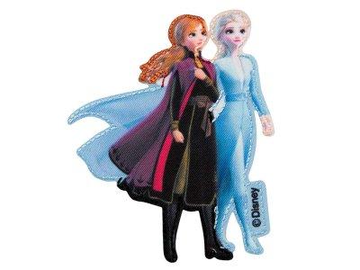 Applikation zum Aufbügeln Disney-Frozen II - Anna und Elsa - blau/schwarz