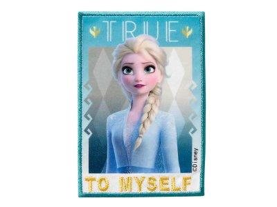 Applikation zum Aufbügeln Disney-Frozen II - Elsa-To My Self - blau