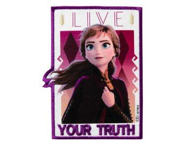 Applikation zum Aufbügeln Disney-Frozen II - Anna-Your Truth - weiß