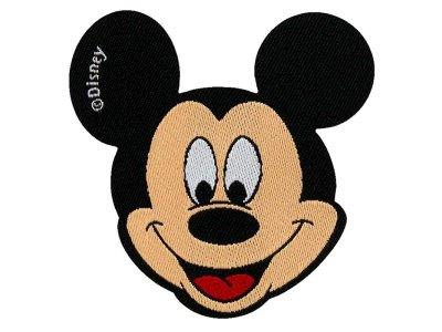 Applikation zum Aufbügeln Disney-Mickey Mouse - lachender Mickey - beige