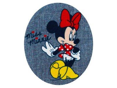 Applikation zum Aufbügeln in Jeansoptik 2 Stück Disney Mickey Mouse - entzückende Minnie - blau