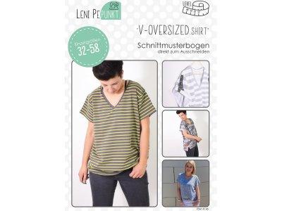 Papier-Schnittmuster Lenipepunkt V-Oversized.Shirt - Shirt