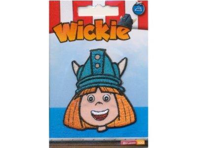 "Applikation ""Wickie"" zum Aufbügeln orange"